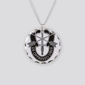 Special Forces Crest Necklace Circle Charm
