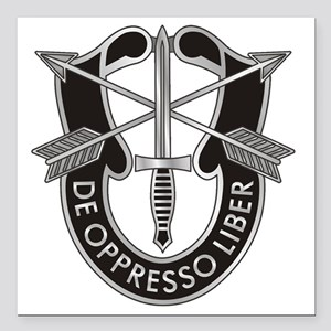 "Special Forces Crest Square Car Magnet 3"" x 3"""