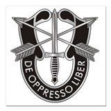Special forces crest Square Car Magnets