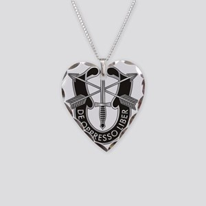 Special Forces Crest Necklace Heart Charm