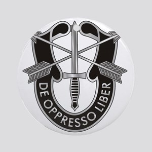 Special Forces Crest Round Ornament