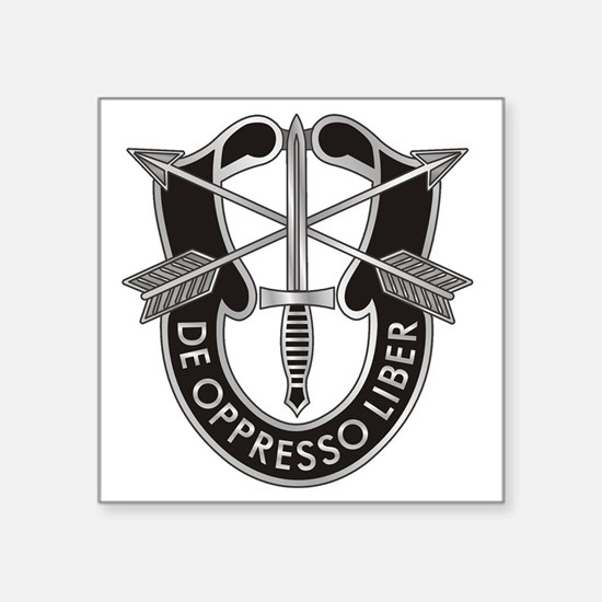 "Special Forces Crest Square Sticker 3"" x 3"""