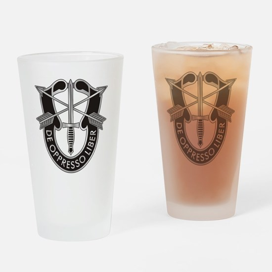 Special Forces Crest Drinking Glass