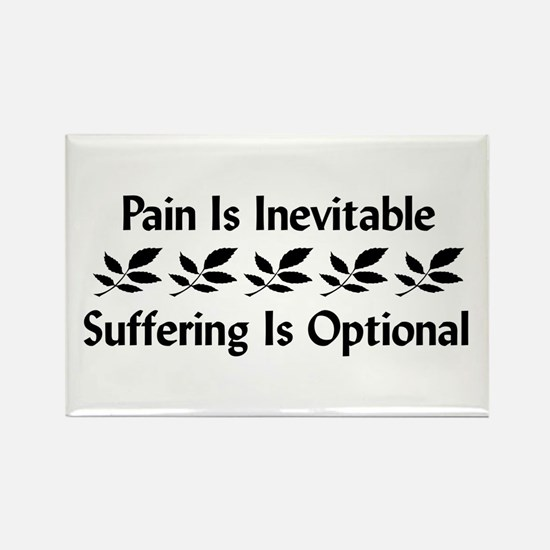 Pain Is Inevitable Rectangle Magnet (10 pack)