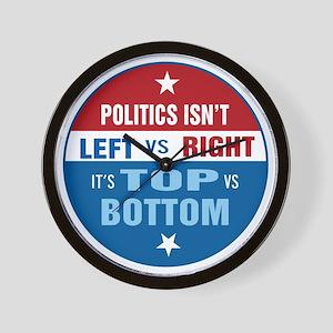 Politics are Top vs Bottom Wall Clock