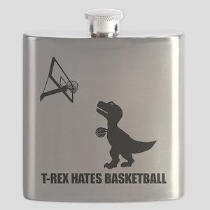 T-Rex Hates Basketball-1 Flask