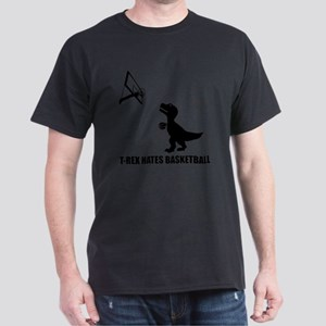 T-Rex Hates Basketball-1 Dark T-Shirt