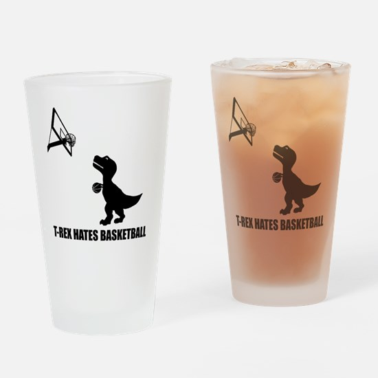T-Rex Hates Basketball-1 Drinking Glass