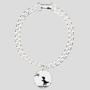 T-Rex Hates Basketball-1 Charm Bracelet, One Charm