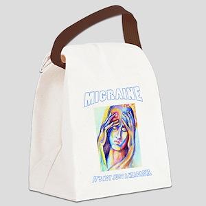 Not Just A Headache Canvas Lunch Bag