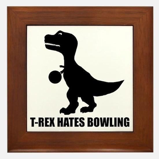 T-Rex Hates Bowling-1 Framed Tile
