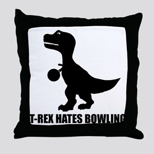 T-Rex Hates Bowling-1 Throw Pillow