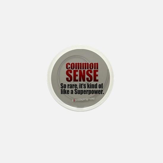 Common Sense Mini Button