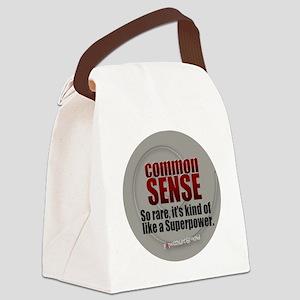 Common Sense Canvas Lunch Bag