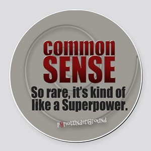 Common Sense Round Car Magnet
