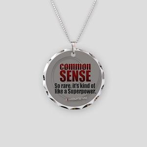 Common Sense Necklace Circle Charm