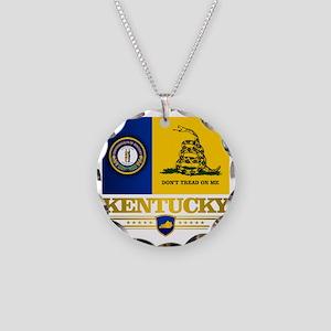 Kentucky Gadsden Flag Necklace Circle Charm