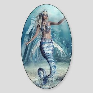 Fantasy Mermaid Sticker (Oval)