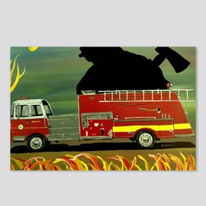 Firefighter Poster Print Postcards (Package of 8)