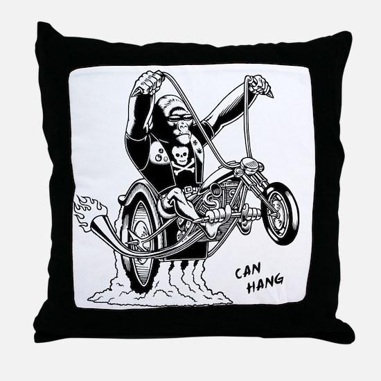 ape-hangin2-LTT Throw Pillow
