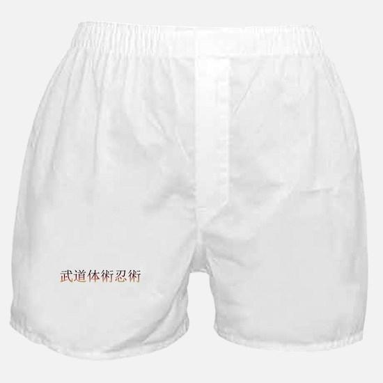 Taijutsu Fire Boxer Shorts (white)