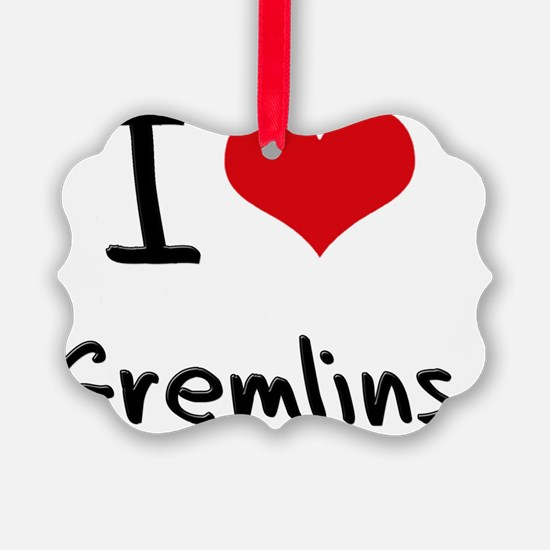 I Love Gremlins Picture Ornament
