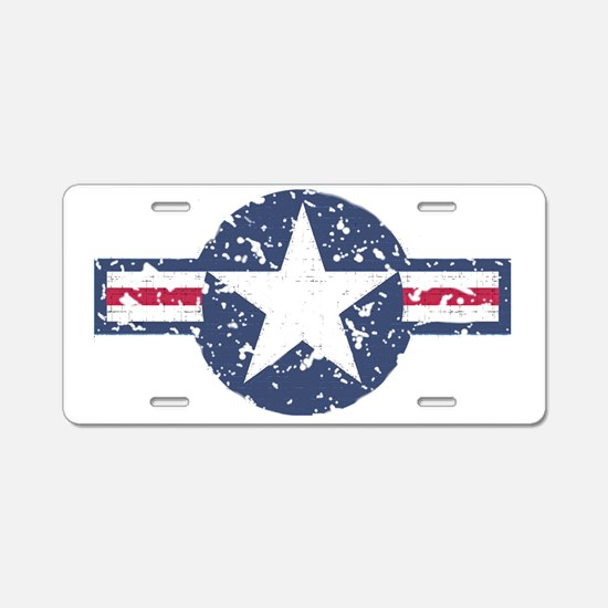 Faded Air Force Logo Aluminum License Plate