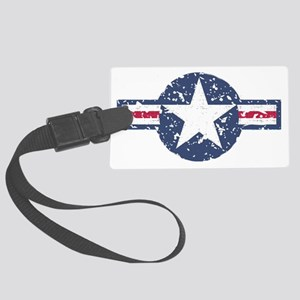 Faded Air Force Logo Large Luggage Tag
