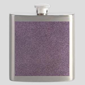 Purple faux glitter Flask