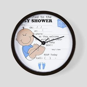 babyshowerbintivte Wall Clock