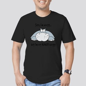 Hippo Hungry Men's Fitted T-Shirt (dark)