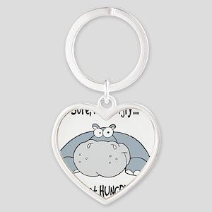 Hippo Hungry Heart Keychain