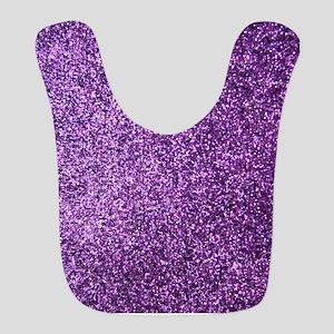 Purple faux glitter Bib