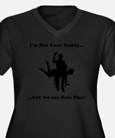 Not Your Dad Women's Plus Size Dark V-Neck T-Shirt