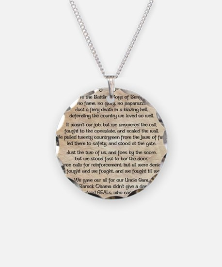 Benghazi Poem Necklace Circle Charm