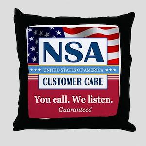 We Listen Throw Pillow