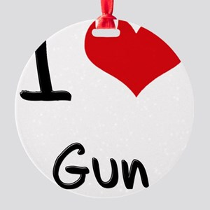 I Love Gun Round Ornament
