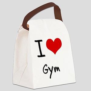 I Love Gym Canvas Lunch Bag