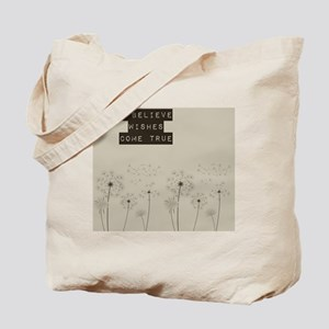 Believe in Wishes Dandelions Tote Bag