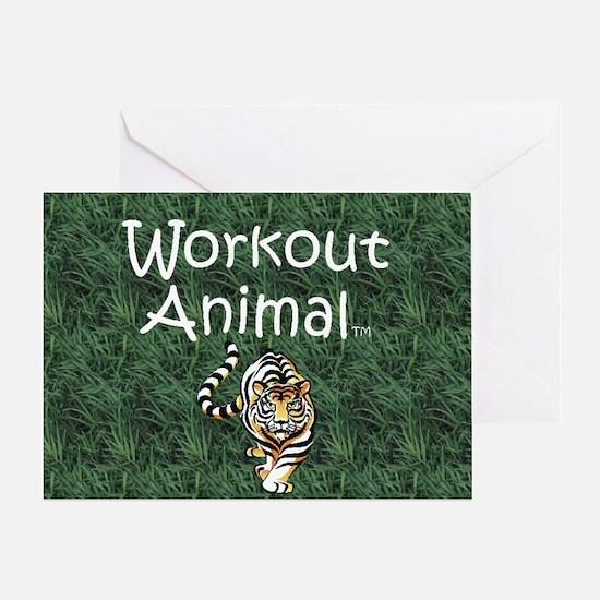 workoutanimal1 Greeting Card