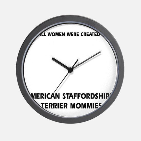 American Staffordshire Terrier mommy Wall Clock