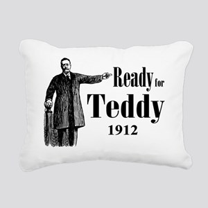Ready for Teddy 1912 Rectangular Canvas Pillow
