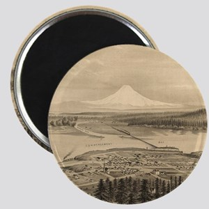 Vintage Pictorial Map of Tacoma Washington Magnets