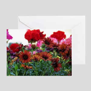 .flowers at the market. Greeting Card