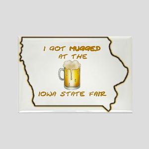 Iowa Got Mugged Rectangle Magnet