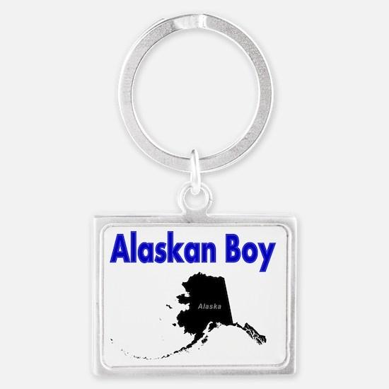 Alaskan Boy Landscape Keychain