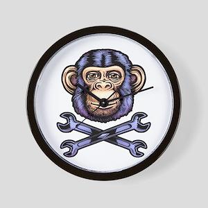 Wrench Monkey Wall Clock