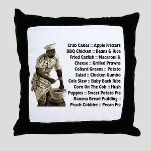 Soul Food Menu Throw Pillow
