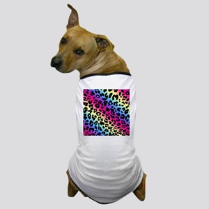 Neon Leopard Pattern Dog T-Shirt