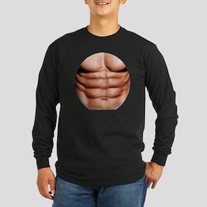 Show My Abs Long Sleeve Dark T-Shirt